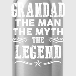 Grandad - The man the myth the legend t-shirt - Water Bottle