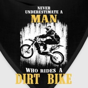 Dirt bike - The man who rides a dirt bike's power - Bandana