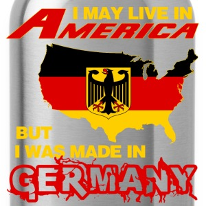 Germany - Live in America but made in germany - Water Bottle