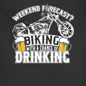 Biking - Biking with a chance of drinking cool tee - Adjustable Apron