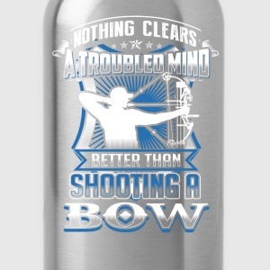 bow hunting Nothing clears mind better than bowing - Water Bottle