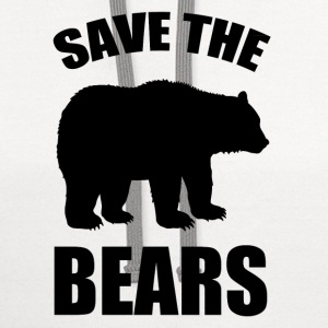 SAVE A BEARS1.png T-Shirts - Contrast Hoodie