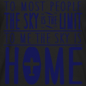 sky is home, not the limit Tanks - Men's Premium Long Sleeve T-Shirt