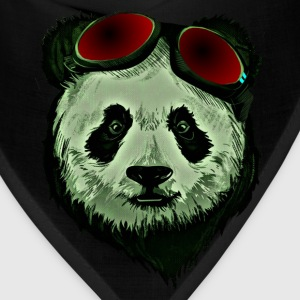 Panda Bear Red glasses - Bandana