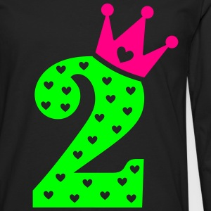 2nd Birthday / crown Baby Bodysuits - Men's Premium Long Sleeve T-Shirt