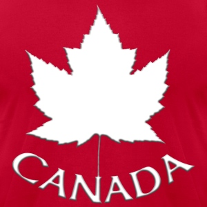 Men's Canada Hoodie Canada Maple Leaf Shirts - Men's T-Shirt by American Apparel