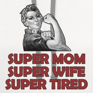SUPER MOM2.png T-Shirts - Contrast Hoodie