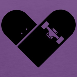 Minimal Skateboard - Heart Logo Design / Icon Hoodies - Women's Premium Tank Top