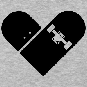 Minimal Skateboard - Heart Logo Design / Icon Hoodies - Baseball T-Shirt