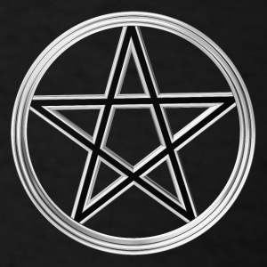 Silver pentagram Long Sleeve Shirts - Men's T-Shirt