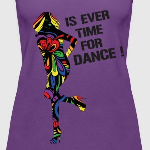 Rainbow  Is Ever Time for Dance V-Neck T-Shirt  - Women's Premium Tank Top