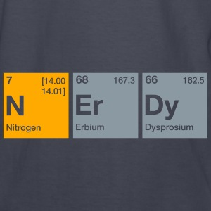 Nerdy Periodic Table Word Hoodies - Kids' Long Sleeve T-Shirt