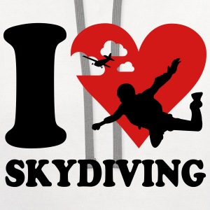 I love skydiving T-Shirts - Contrast Hoodie
