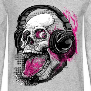 Chillin' Skull Sticking Tongue Out - Men's Long Sleeve T-Shirt