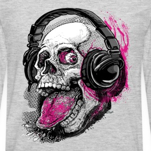 Chillin' Skull Sticking Tongue Out - Men's Premium Long Sleeve T-Shirt