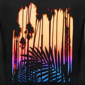 Tropical Paradise Sunset - Men's Premium Tank