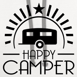 HAPPY CAMPER6.png T-Shirts - Contrast Hoodie