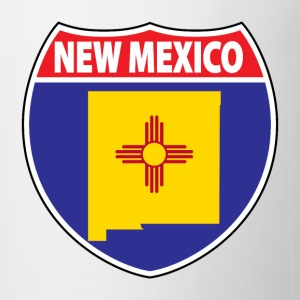 New Mexico flag hwy sign t-shirt - Coffee/Tea Mug