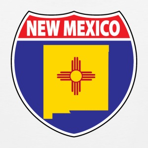 New Mexico flag hwy sign t-shirt - Men's Premium Tank
