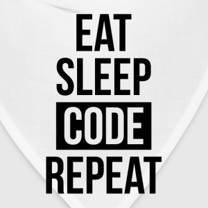 EAT SLEEP CODE REPEAT FUNNY GEEK IT SCIENCE T-Shirts - Bandana