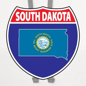 South Dakota Flag Hwy ringer tee - Contrast Hoodie
