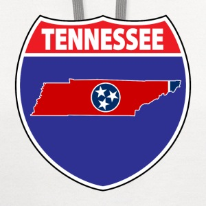 Tennessee flag hwy sign t-shirt - Contrast Hoodie