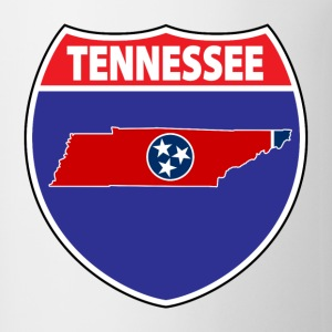 Tennessee flag hwy sign t-shirt - Coffee/Tea Mug