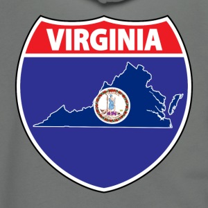 Virginia flag us hwy sign ringer tee - Unisex Fleece Zip Hoodie by American Apparel