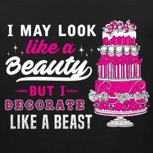 Baker - I decorate like a beast awesome t-shirt - Men's Premium Tank
