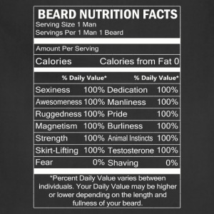 Beard - Beard nutrition facts awesome t-shirt - Adjustable Apron