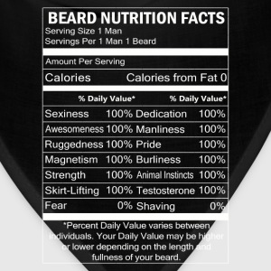 Beard - Beard nutrition facts awesome t-shirt - Bandana