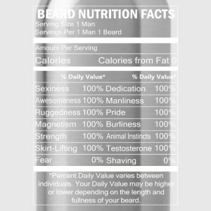 Beard - Beard nutrition facts awesome t-shirt - Water Bottle