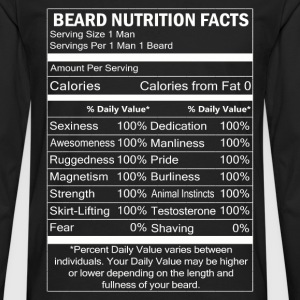 Beard - Beard nutrition facts awesome t-shirt - Men's Premium Long Sleeve T-Shirt