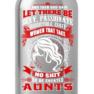 Aunts - God said let there be aunts t-shirt - Water Bottle