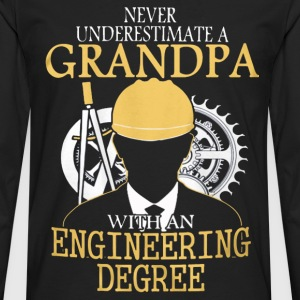 A grandpa with an engineering degree Engineer - Men's Premium Long Sleeve T-Shirt