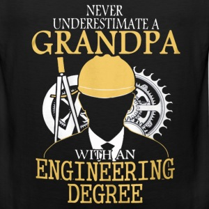 A grandpa with an engineering degree Engineer - Men's Premium Tank