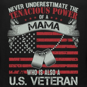 US veteran mama - Never underestimate - Men's Premium Tank