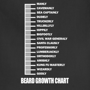 Beard - Beard growth chart awesome t-shirt - Adjustable Apron