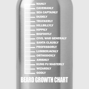 Beard - Beard growth chart awesome t-shirt - Water Bottle