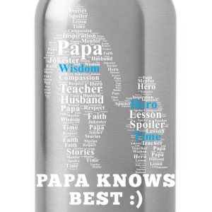 Papa - Papa knows best Fathers Day - Water Bottle