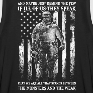 Military Veteran - Stands between monster and weak - Men's Premium Tank