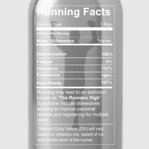 Running - All running facts awesome t-shirt - Water Bottle