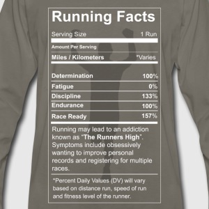 Running - All running facts awesome t-shirt - Men's Premium Long Sleeve T-Shirt