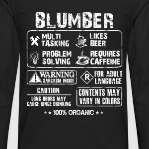 Plumber - Plumber multi tasking awesome tee - Men's Premium Long Sleeve T-Shirt