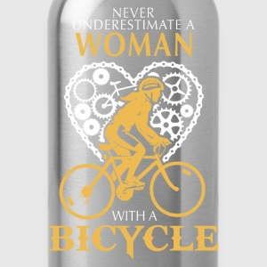 Bicycle - A woman with a bicycle awesome t-shirt - Water Bottle