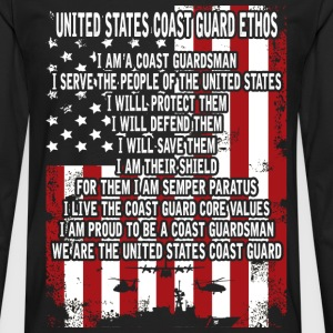 United States Coast guard man - I will save them - Men's Premium Long Sleeve T-Shirt