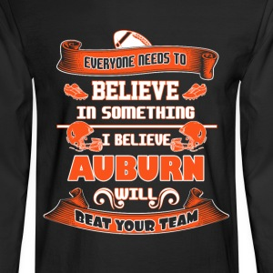 Auburn - I believe Auburn will beat your team tee - Men's Long Sleeve T-Shirt