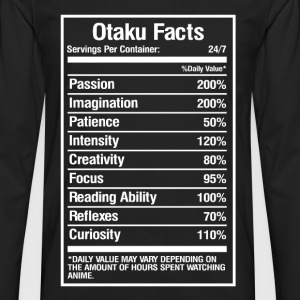 Otaku facts - Daily value may vary with anime - Men's Premium Long Sleeve T-Shirt