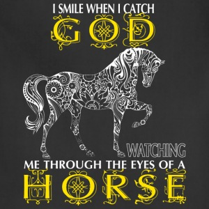 Horse - I catch God watching me through the eyes - Adjustable Apron