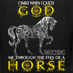 Horse - I catch God watching me through the eyes - Men's Premium Tank
